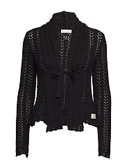 can-can cardigan - ALMOST BLACK