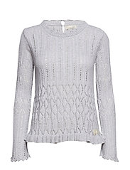 pretty on the loose sweater - LIGHT GREY MELANGE