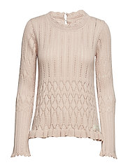 pretty on the loose sweater - PINK SAND