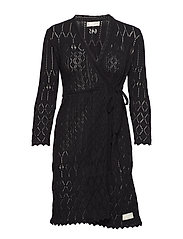 pretty on the loose wrap dress - ALMOST BLACK