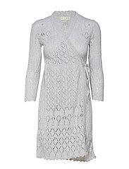 pretty on the loose wrap dress - LIGHT GREY MELANGE