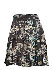 flower fantasy flirt skirt - ALMOST BLACK