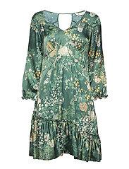 flower fantasy flirt dress - DARK GREEN