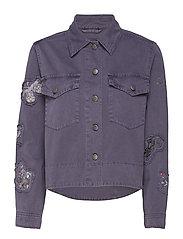 straight up nice jacket - STONE GREY