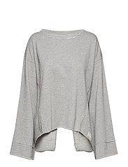 back swag sweater - GREY MELANGE
