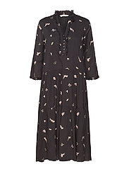 heartbeat dress - ALMOST BLACK
