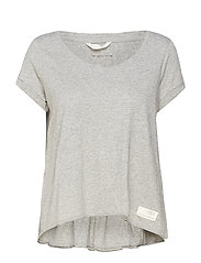 chorus s/s top - GREY MELANGE