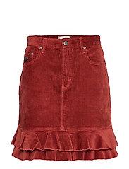 Power Hour Skirt - RUSSET BROWN