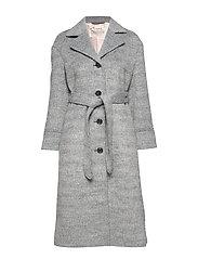 Lengthy Beaut Coat - LIGHT GREY MELANGE