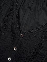 ODD MOLLY - Rachelle Blouse - long sleeved blouses - almost black - 4