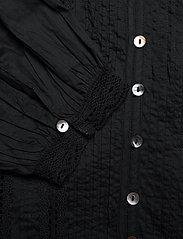 ODD MOLLY - Rachelle Blouse - long sleeved blouses - almost black - 5