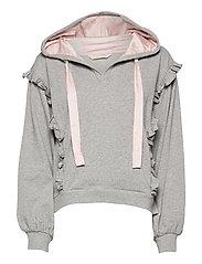 Paulina Hood Sweater - LIGHT GREY MELANGE