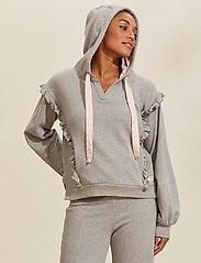 ODD MOLLY - Paulina Hood Sweater - pulls à capuche - light grey melange - 0