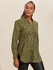 ODD MOLLY - Vivian Shirt - langærmede bluser - dark olive - 0