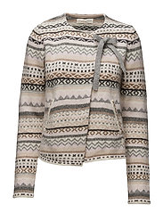 knitted wings multil cardigan - TRANQUIL