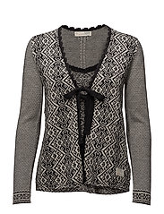 buzzard cardigan - BLACK