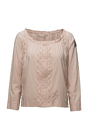 operetta l/s blouse - SMOKE ROSE
