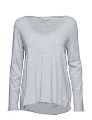 trashin´  l/s top - LIGHT GREY MELANGE