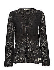 nordic alps blouse - ALMOST BLACK