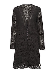 nordic alps dress - ALMOST BLACK
