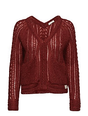 feel it sweater - RED OCHRE