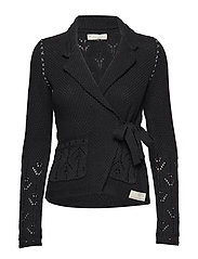 mrs charming cardigan - BLACK