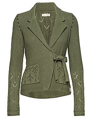 mrs charming cardigan - CARGO GREEN