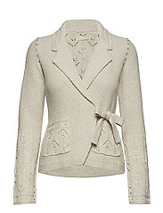 mrs charming cardigan - CHALK