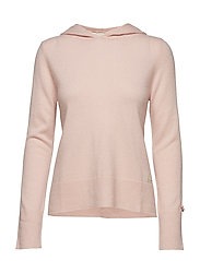 warm and vivid hood sweater - SHEER PINK