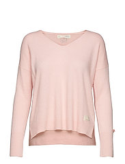 warm and vivid sweater - SHEER PINK