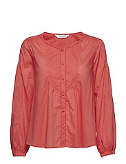 magic space blouse - RED CORAL
