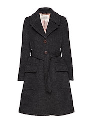 the smart coat - DARK GREY MELANGE