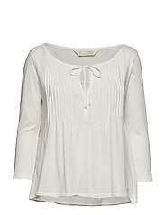 ersey girl l/s top - LIGHT CHALK