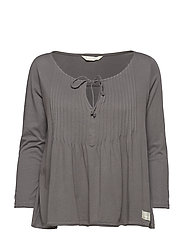 ersey girl l/s top - SHADOW GREY