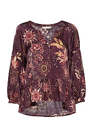 spirit blouse - BURGUNDY