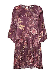 spirit dress - BURGUNDY