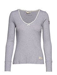 Tiny Miracle L/S Top - LIGHT GREY MELANGE