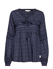 Ready To Go Blouse - DARK BLUE
