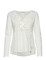 lace hug top - OFFWHITE