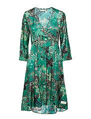 magic garden dress - BOTTLE GREEN