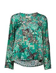 magic garden blouse - BOTTLE GREEN