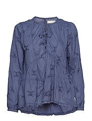 sweet symbolism blouse - VINTAGE BLUE