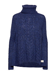 Cozy Hugs Turtleneck - DEEP COBALT