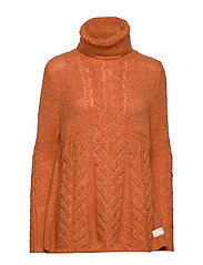 Cozy Hugs Turtleneck - DEEP ORANGE