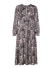 Head Turner Long Dress - ASPHALT