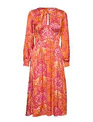 Head Turner Long Dress - PUMPKIN ORANGE