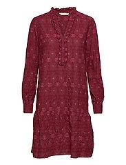 Célia Dress - BAKED BURGUNDY