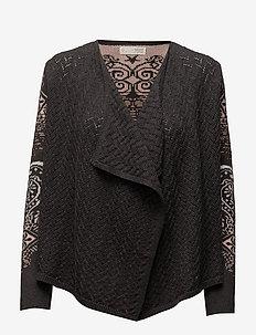 sparkling cardigan - ALMOST BLACK