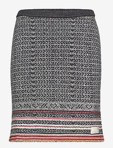 noisy rainbow skirt - MULTI