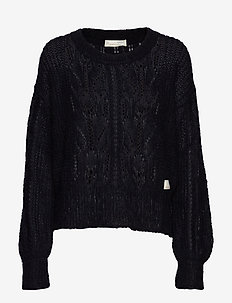 mystery fields sweater - BLACK